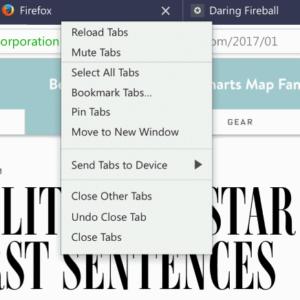 firefox multi-tab management