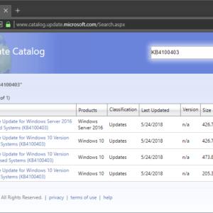 kb4100403 windows 10 version 1803
