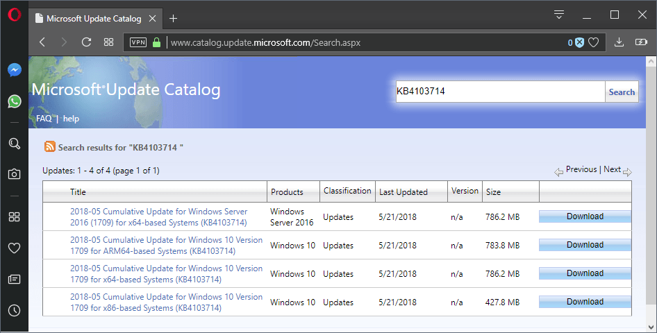 kb4103714 windows 10 version 1709