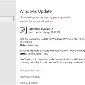microsoft windows may 2018 updates security
