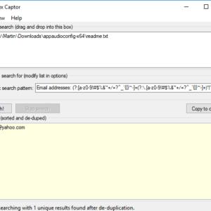 regex captor extract email addresses