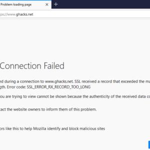 firefox secure connection failed