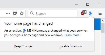 homepage changed