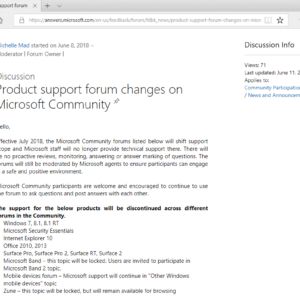 microsoft end forum support windows7 windows8