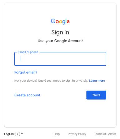 new google login