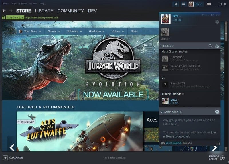 steam new chat interface