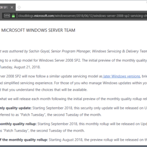 windows server 2008 rollup updates
