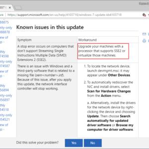windows 7 support sse2