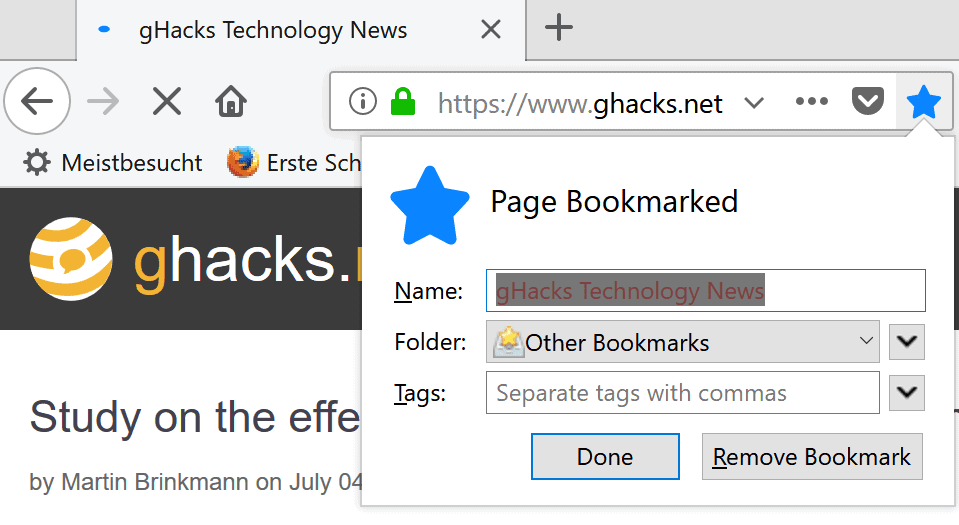 firefox other bookmarks