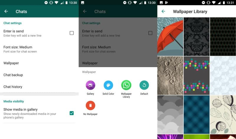 how to change whatsapp wallpaper on iphone
