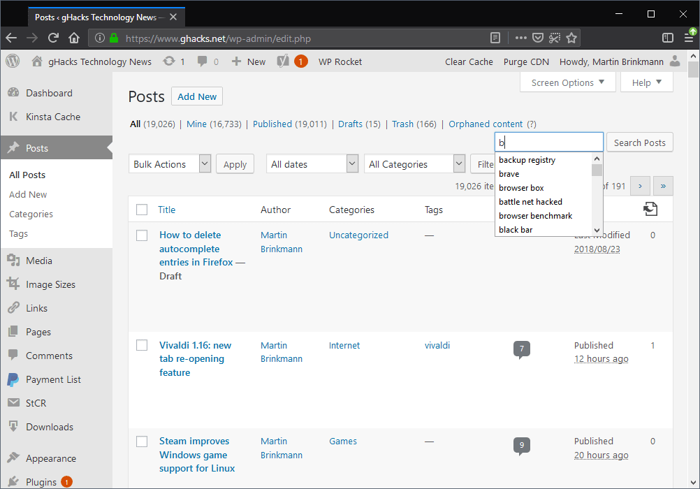 firefox suggestions
