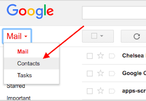 gmail contacts removal
