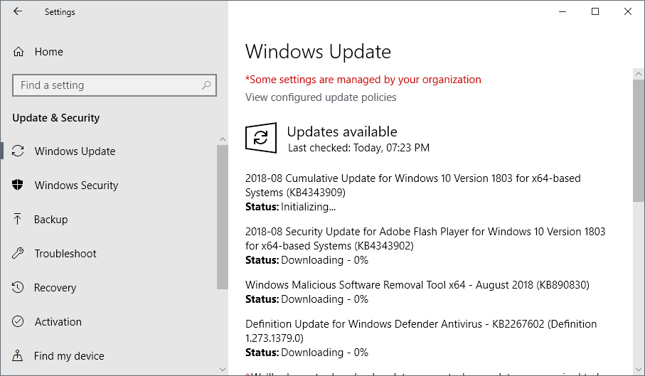 microsoft windows security updates august 2018