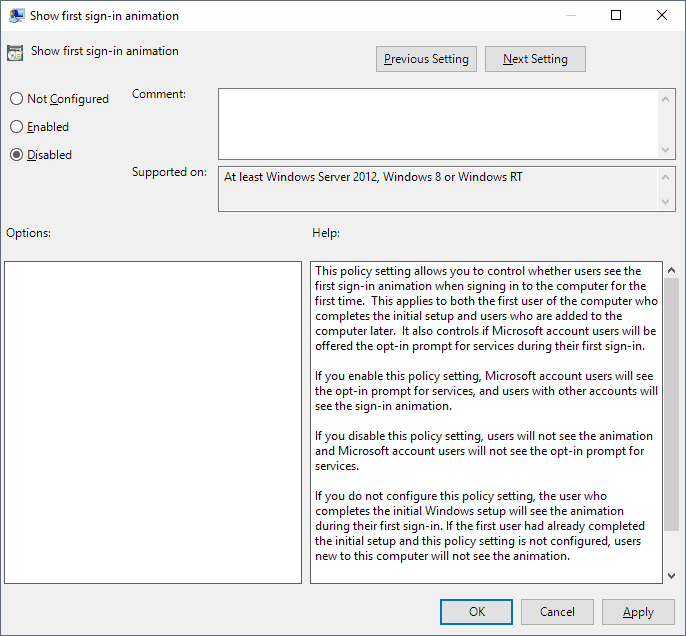 windows 10 first sign-in animation hi