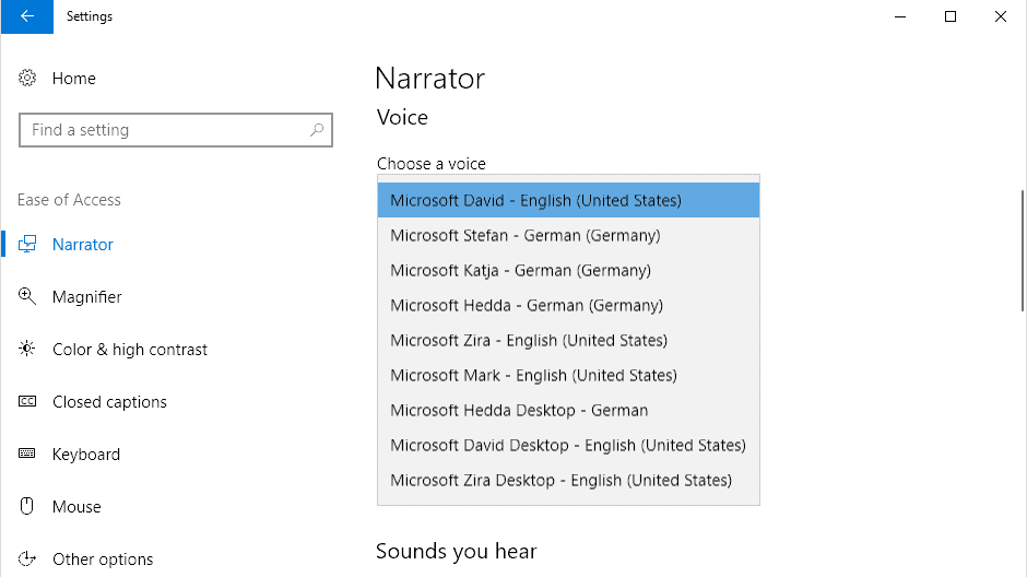 windows 10 voices