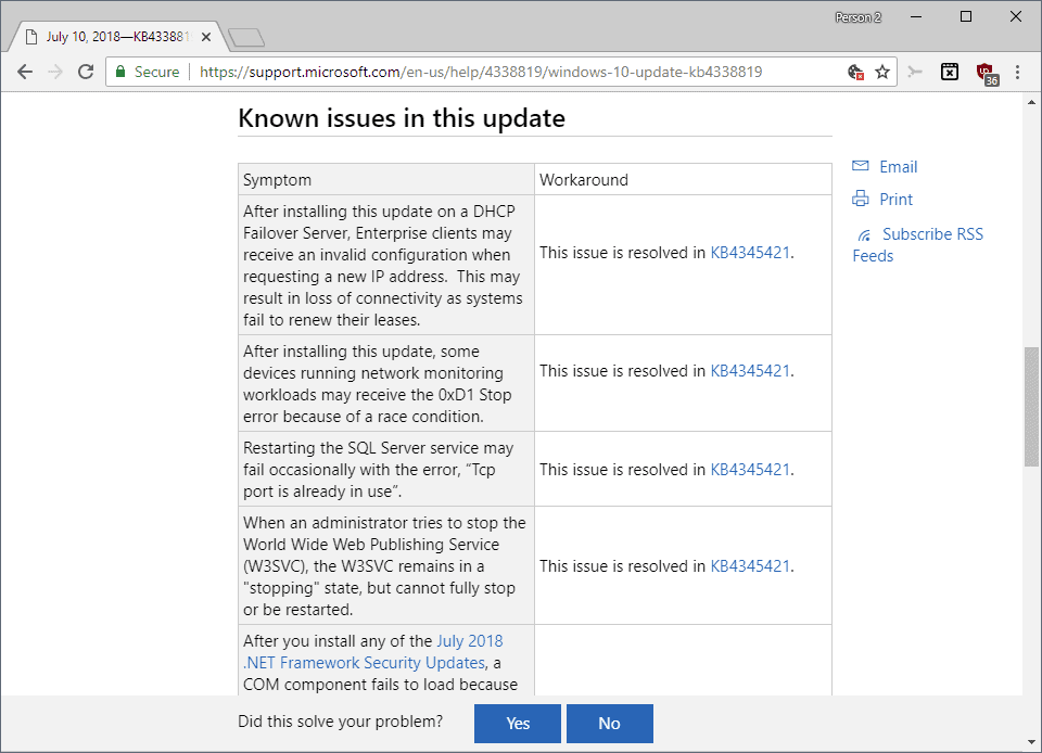 windows update issues