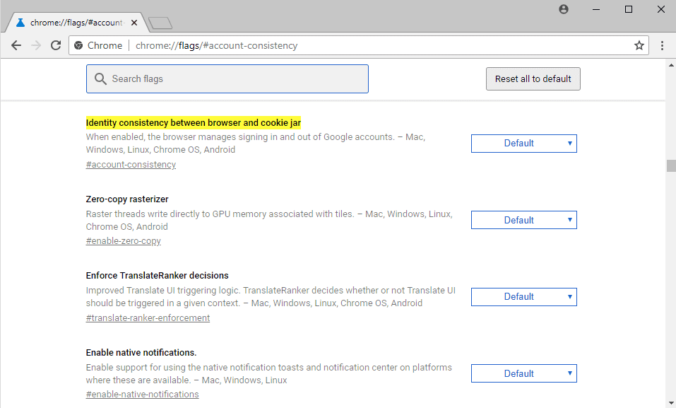 Disable the sign-out link between Chrome, Gmail and other ...